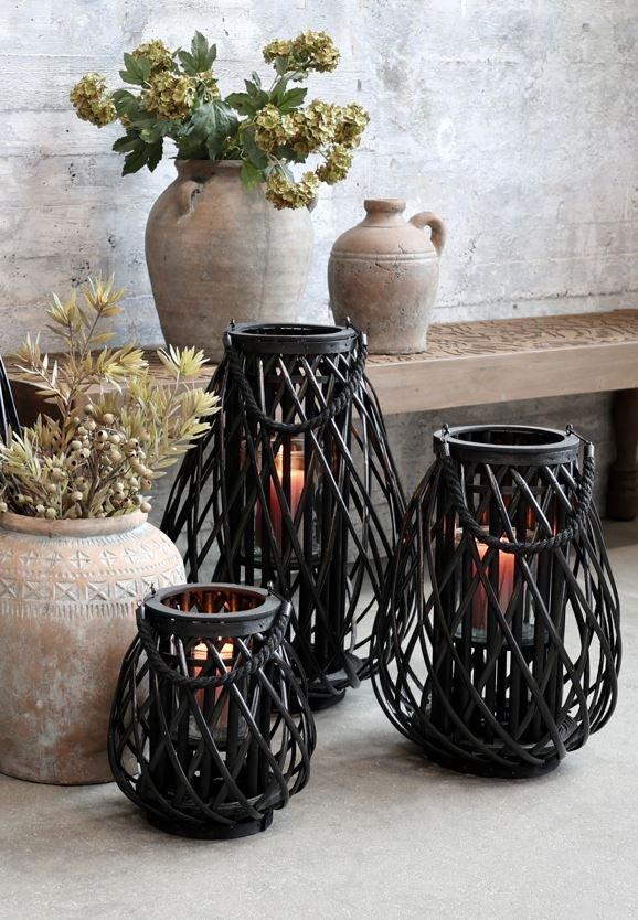 Chic Antique, Lanterne i flet, sort